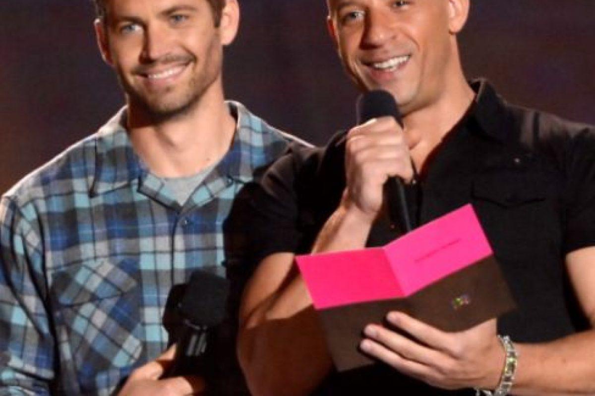 """En 2002 ganó un MTV Movie Award con Vin Diesel como """"Mejor Pareja en Pantalla"""". Diesel nombró a su hija Pauline en honor a Walker. Foto:vía Getty Images"""