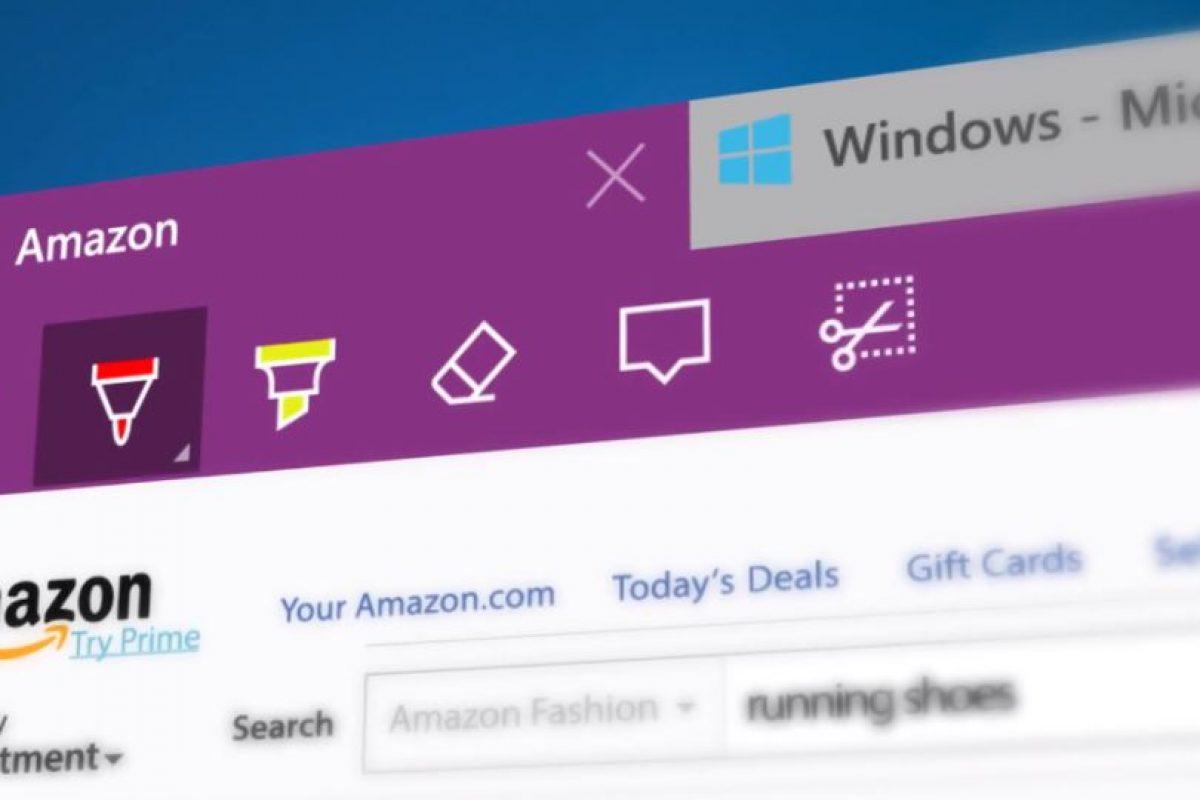 También se agregaron más opciones web como recortar, anotar, marcar y borrar en una página web Foto:Microsoft