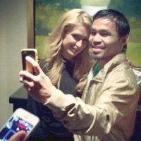 La modelo y socialité estadounidense compartió una foto en la que aparece con Manny Pacquiao. Foto:Vía instagram.com/parishilton