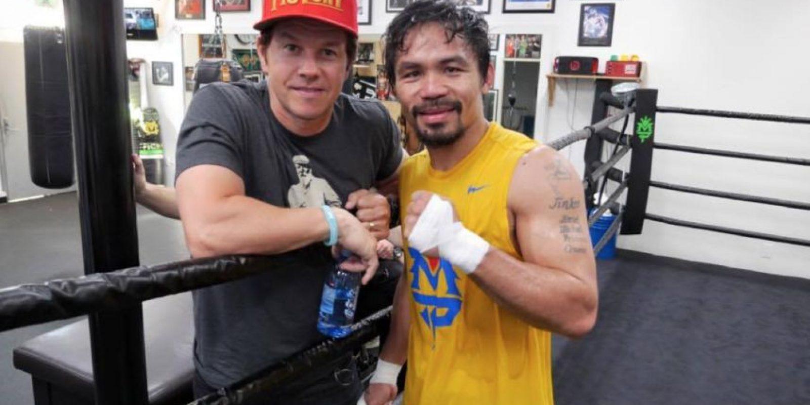 Pacquiao: Mark Wahlberg, cantante, modelo y actor estadounidense. Foto:facebook.com/TopRankMannyPacquiao