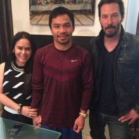 Pacquiao: Keanu Reeves, actor canadiense. Foto: facebook.com/TopRankMannyPacquiao