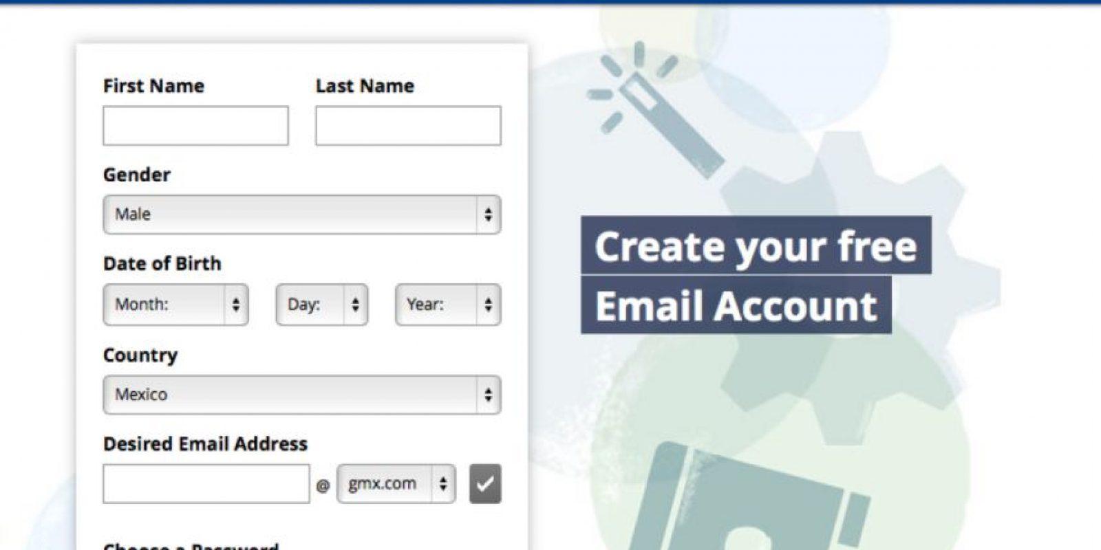 GMX es un servicio muy poco conocido. Es gratuito y funciona de forma muy sencilla, pues solo ofrece el servicio de correo Foto:GMX