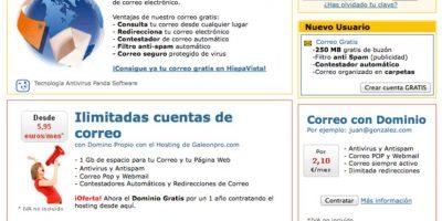 Hispavista ofrece también dominios para blogs Foto:Hispavista