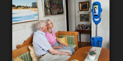 Vasteras Giraff es una herramienta de comunicación móvil que permite a las personas mayores comunicarse con el mundo exterior. Foto:Giraff Technologies