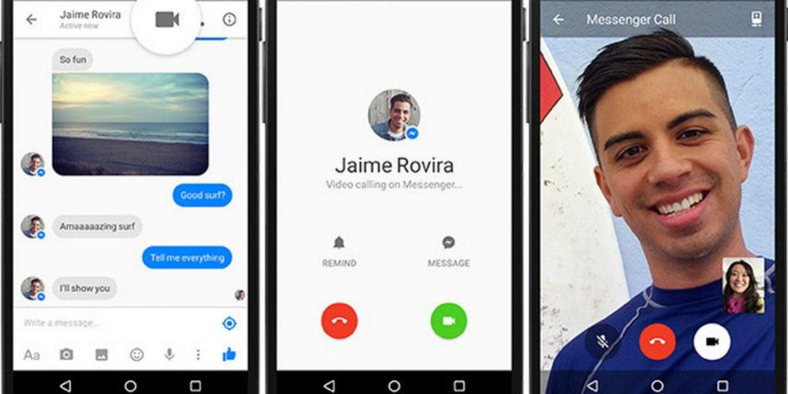Las videollamadas para móviles por Wi-Fi también fueron anunciadas recientemente Foto:Facebook