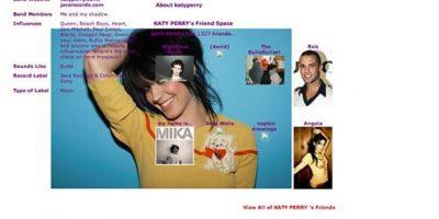 Ponía todas sus influencias a la vista. Foto:vía MySpace
