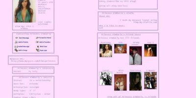 """Se llamaba """"Princess Kimberly"""". Era rosado. Acá, Kim contaba con 25 años. Foto:vía MySpace"""