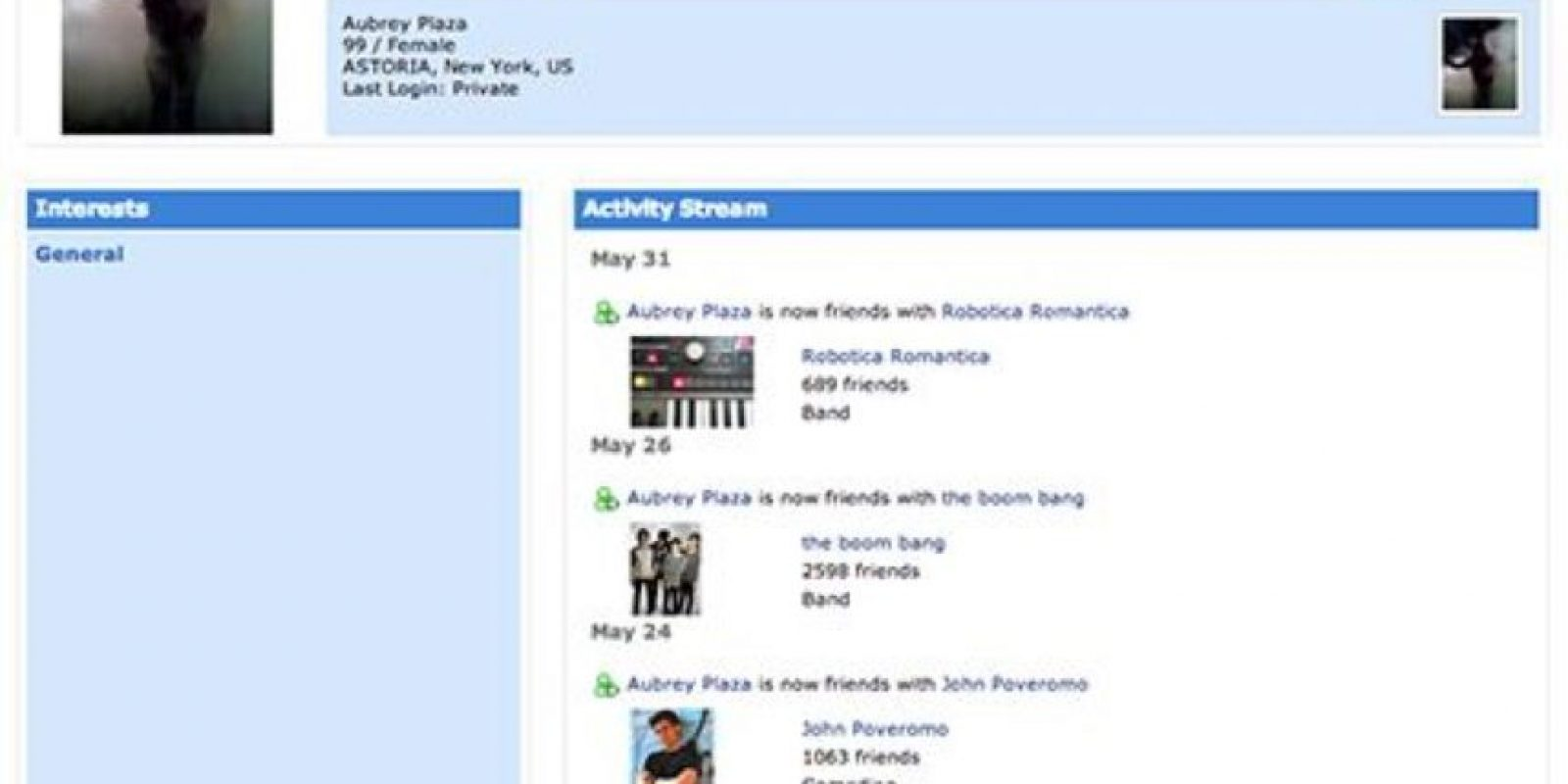 Sencillo. Foto:vía MySpace