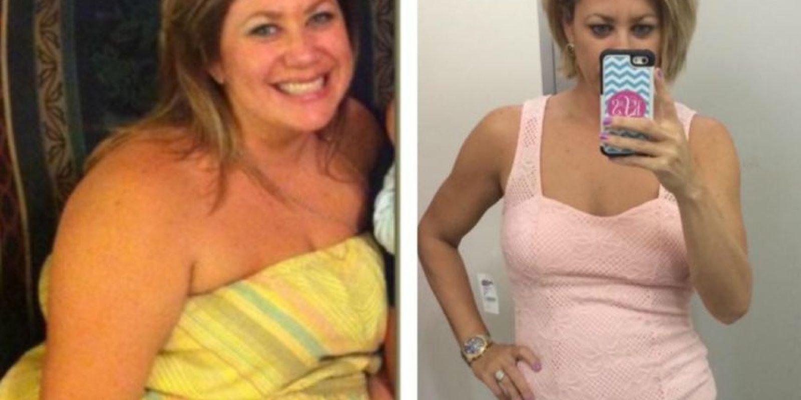 A levantar pesas. Foto:vía Facebook/Kristin Weight Lost Journey