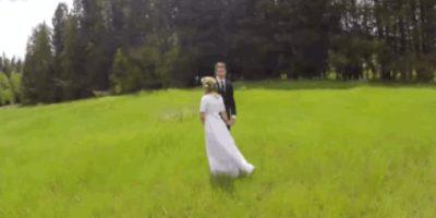 VIDEO: Este ensoñador filme de bodas terminó en desastre en unos segundos