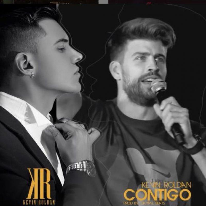 El cantante colombiano usó una imagen del defensa del Barça para promocionar su nuevo sencillo. Foto:Vía instagram.com/kevinroldankr