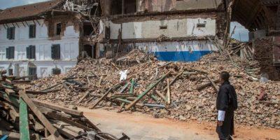 La magnitud fue de 7.8 grados en escala Richter Foto:Getty Images
