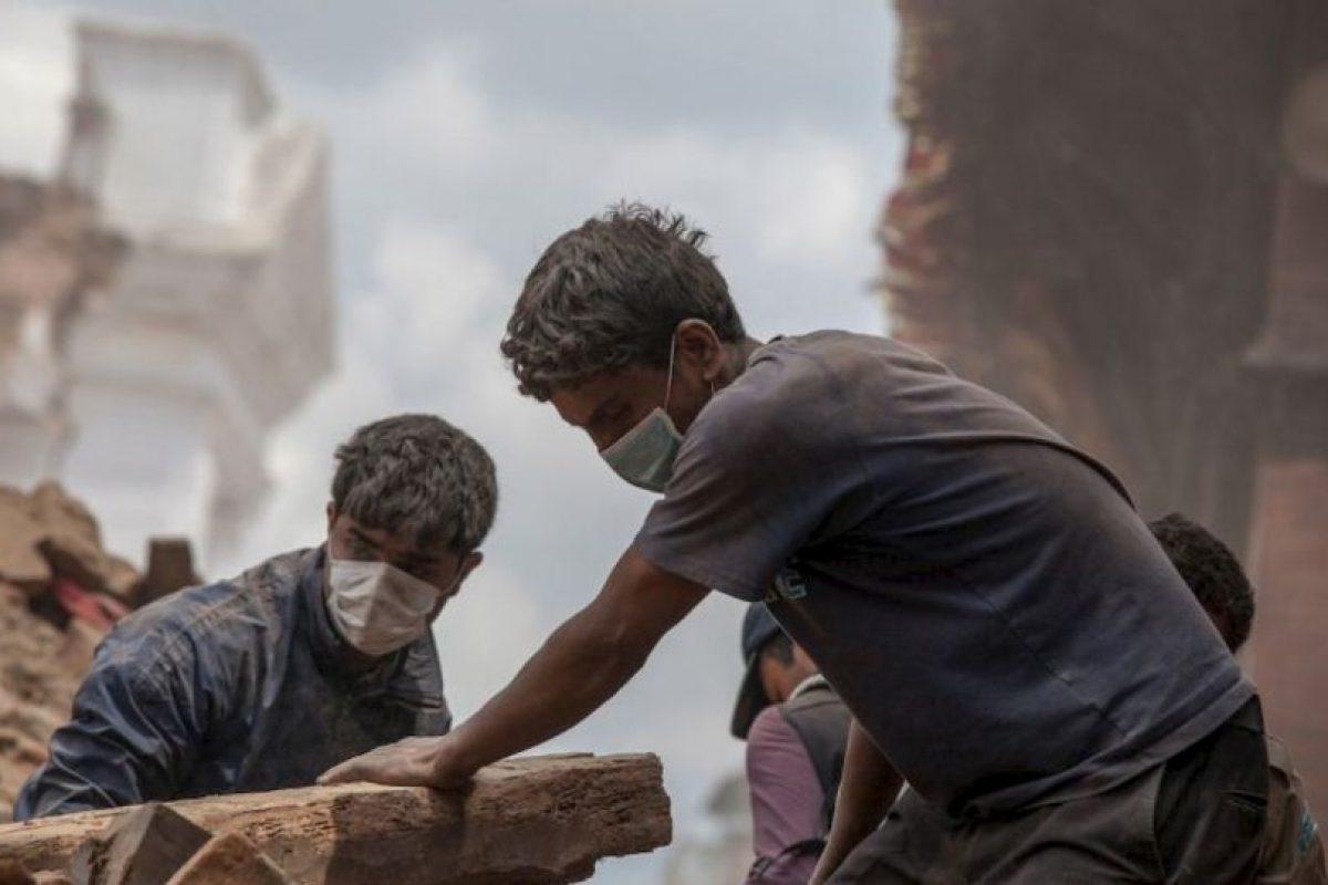Aún continuan las réplicas. Foto:Getty Images