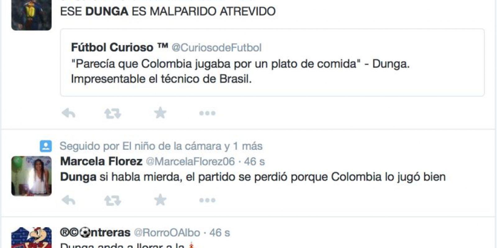Y toda su ira se dirige hacia el seleccionador brasileño. Foto:vía Twitter