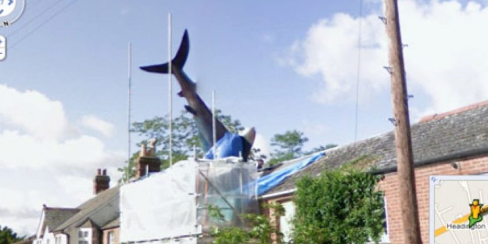 El ataque del tiburón Foto:Google Street View