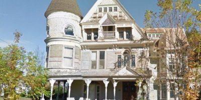 Esta es la imagen de la casa abandonada tomada por Google Street View Foto:Google Street View