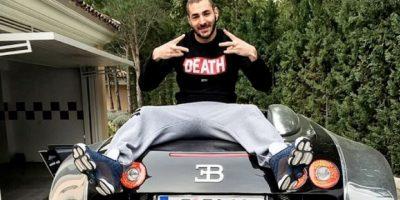 """En 2009 se """"estrenó"""" con el Real madrid al estrellar su Audi. Foto:Vía instagram.com/karimbenzema"""