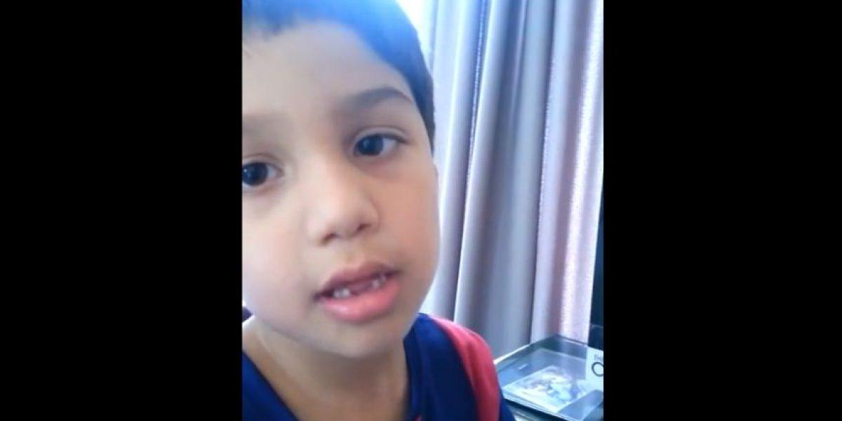 VIDEO: Niño de seis años regaña a Arturo Vidal por chocar su Ferrari