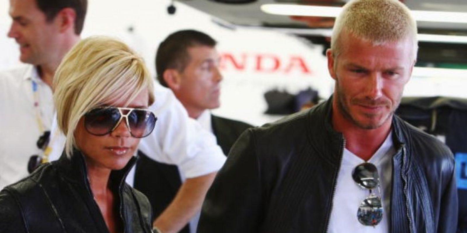 Y a David le dio por hacer esto. Y la familia Beckham se fue de Los Ángeles y su nefasta influencia. Foto:vía Getty Images