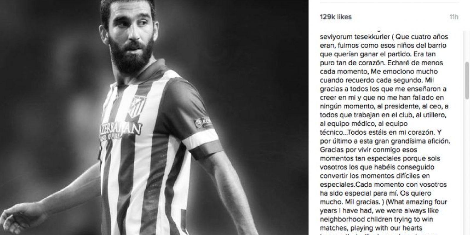 Salió del Atlético de Madrid para fichar por el Barcelona. Foto:Vía instagram.com/ardaturan10line