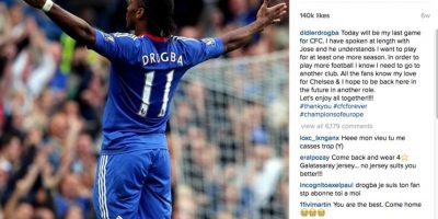 El marfileño se volvió a despedir de Chelsea para buscar nuevo equipo. Foto:Vía instagram.com/didierdrogba