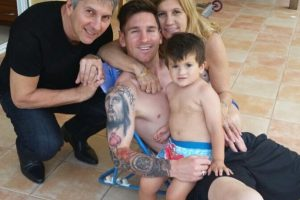 La familia de Lionel Messi acudió al Estadio Nacional de Santiago el pasado 4 de julio. Foto:Vía instagram.com/leomessi