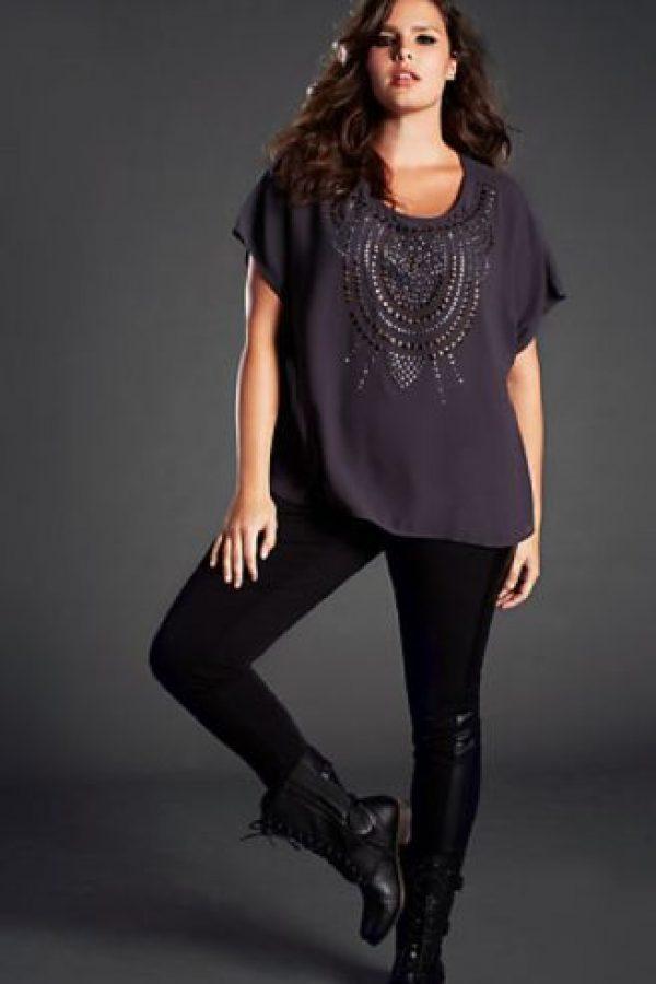 Con una blusa oversize. Foto:vía Pinterest