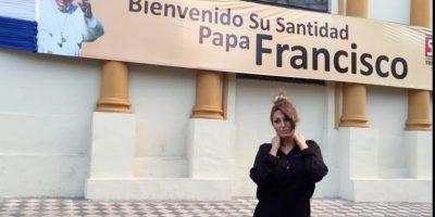 Vedette  fue a ver al Papa a Paraguay y es recibida con abucheos