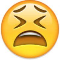 Desesperación o soyozo: Su verdadero significado es el de una cara cansada. Foto:Emojipedia