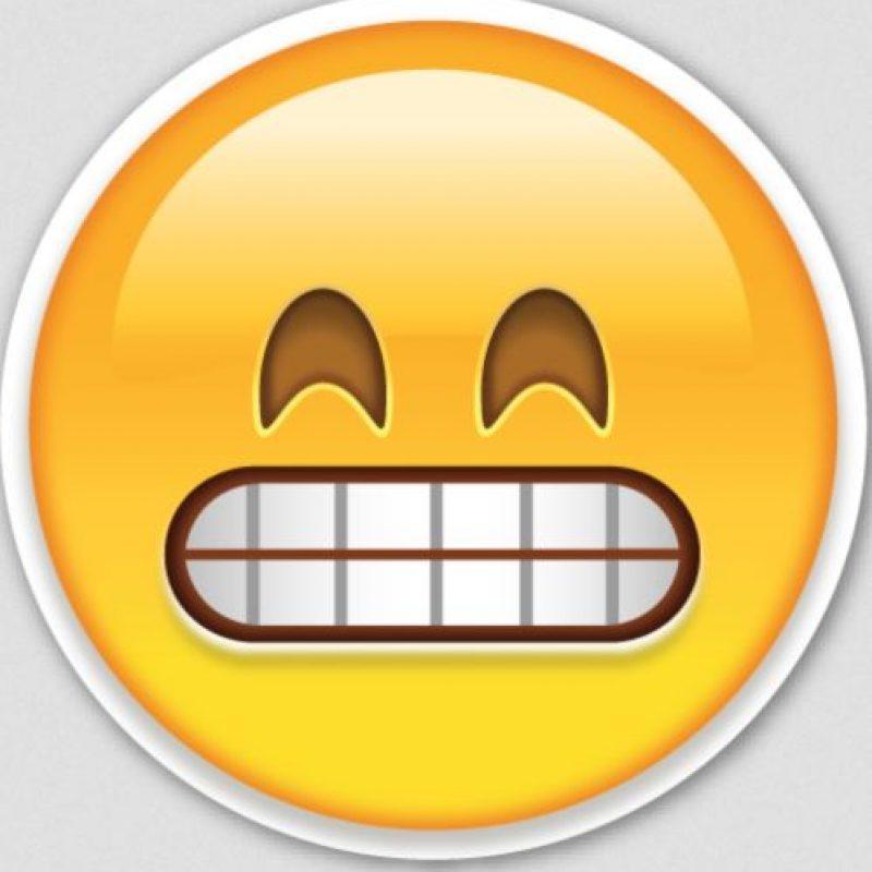 Burla o chiste: Aunque es parecido, en realidad se trata de una cara muy feliz. Foto:Emojipedia