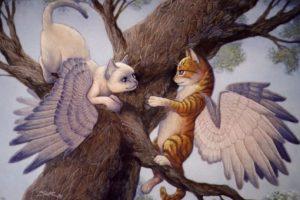 Los gatos alados también han sido vistos desde el siglo XIX. Foto:vía Wikipedia