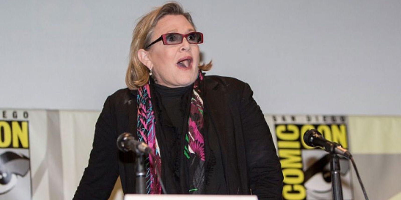 Carrie Fisher tiene 58 años. Foto:vía Getty Images