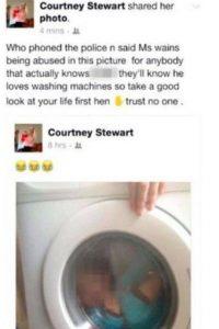 Sin embargo, un nuevo video demuestra el mal trato que le da a su pequeño. Foto:Vïa Facebook/Courtney Stewart