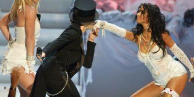 También con Christina Aguilera. Foto:vía Getty Images