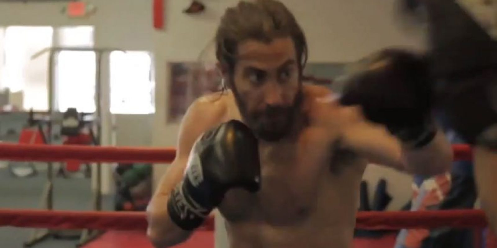 "Así se ve Jake Gyllenhaal en ""Southpaw"" Foto:vía Youtube"