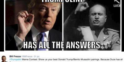 Lo compararon con el dictador Benito Mussolini. Foto:vía Twitter