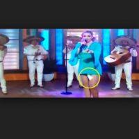 A esta actriz y cantante mexicana se le cayó la toalla sanitaria en media presentación. Foto:Vía Youtube