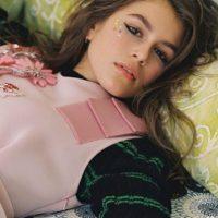 Acá posó para Vogue Italia. Foto:vía Instagram/kaiagerber