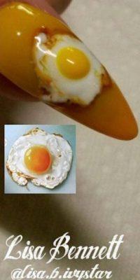 6. Huevos fritos fue lo ideal para ella Foto:Vía Instagram/@lisa.b.ivystar