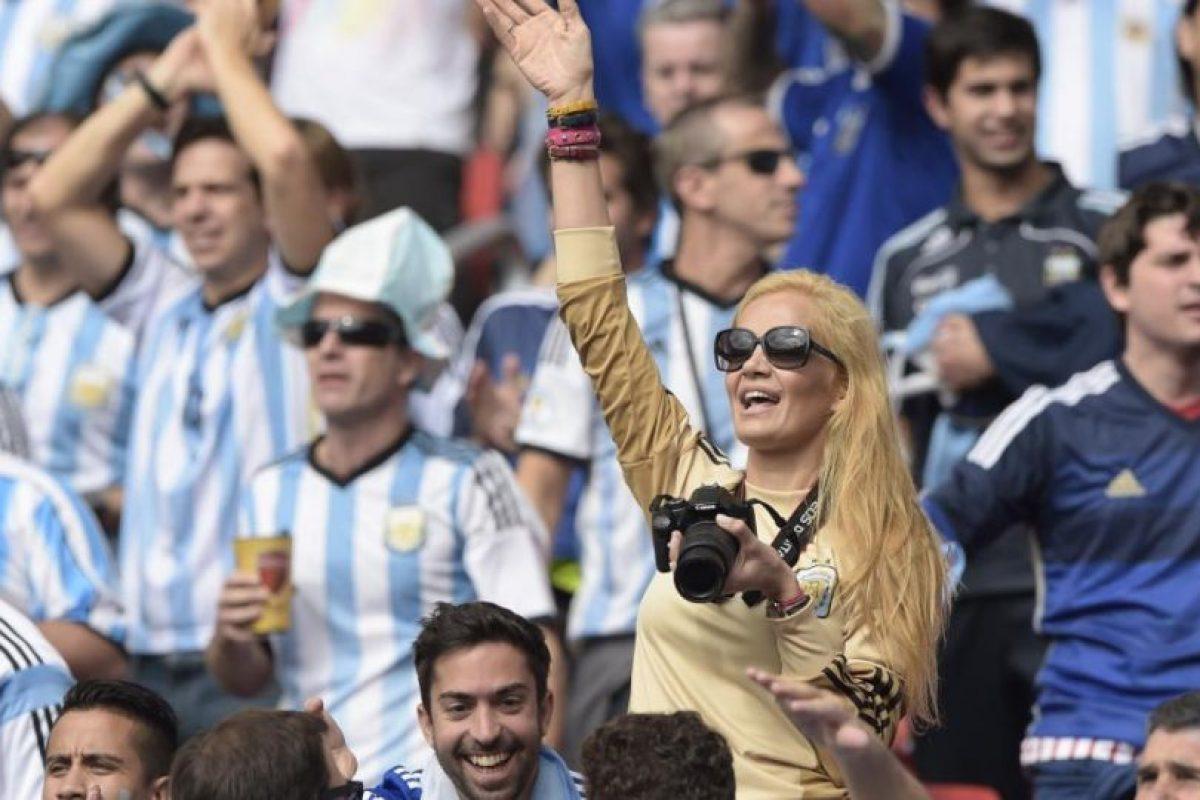 Ella apoyó a la Selección de Argentina en el Mundia del Brasil 2014 Foto:Getty Images