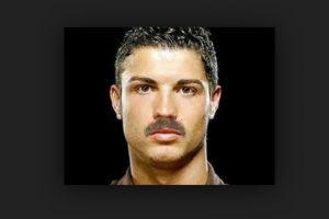 ¿Qué les parece con bigote? Foto:Twitter