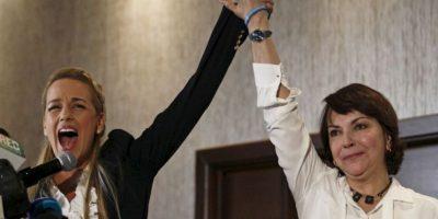 Esposa de Leopoldo López, Lilian Tintori ha recorrido muchas países para abogar por la libertad de los presos políticos en Venezuela. Foto:AP