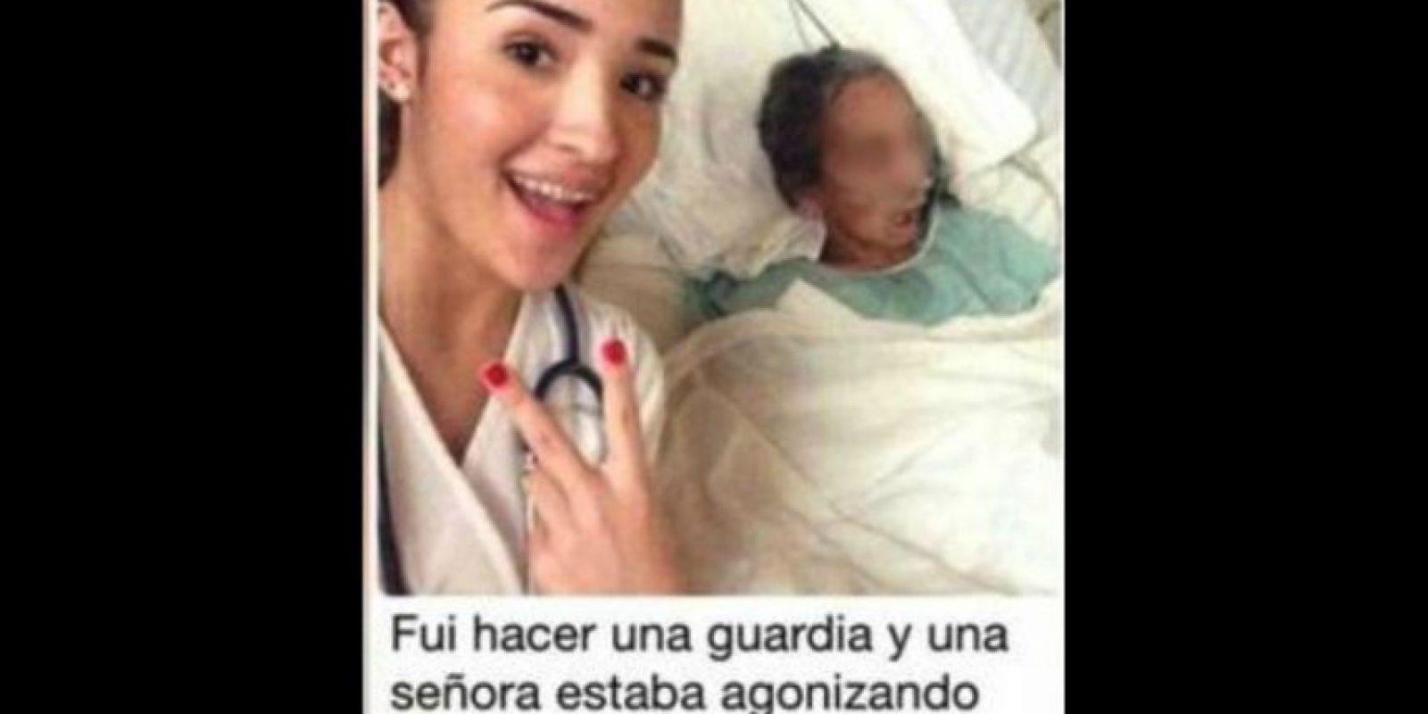 Esta fotografía está causando indignación en redes sociales. Foto:Twitter.com
