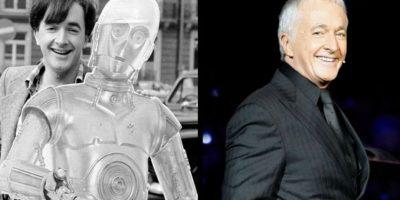 Anthony Daniels interpretó al androide de protocolo C-3PO. Ha estado en las seis películas, y vive en Londres. Foto: THR
