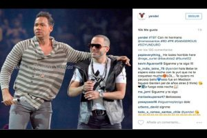 Yandel y Romeo Santos Foto:Instagram/Yandel
