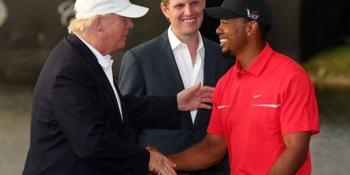 Tiger Woods y Donald Trump, compañeros de golf en Florida