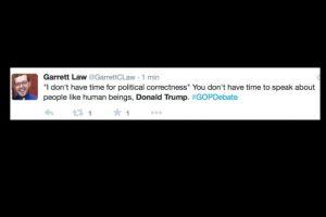 """""""No hay tiempo para la corrección política, es decir para tratar a la gente con humanidad"""". Foto:vía Twitter"""