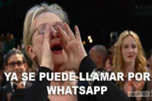 1- Las llamadas de WhatsApp ya se encuentran activas en la aplicación. Foto:Tumblr