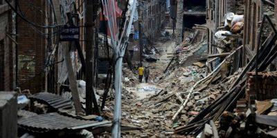 Segundo terremoto en Nepal. Este fue de magnitud 7.3. Foto:AFP