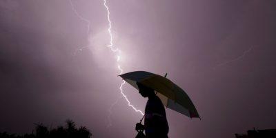 Tormenta eléctrica en India. Foto:AFP